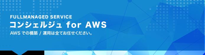 コンシェルジュ for AWS AWSでの構築/運用はすべてお任せください!